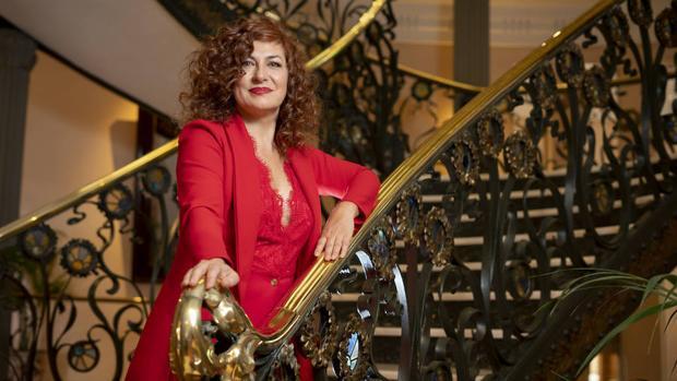 Pilar Jurado, presidenta de la SGAE, en el Palacio de Longoria