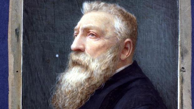 Miniatura ahora identificada como un retrato de Rodin