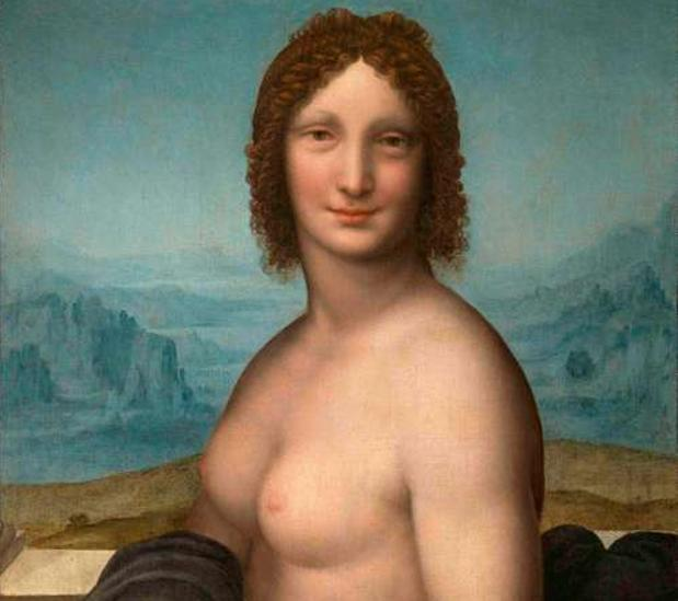 La versión de la Gioconda con el torso al descubierto en color que exhibe el Museo Condé de Chantilly