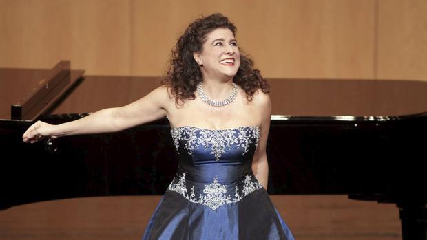 La mezzosoprano cecilia Bartoli en el Teatro Real de Madrid
