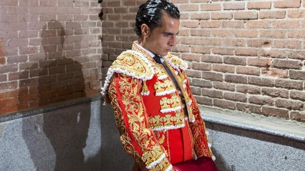 Iván Fandiño, en su rincón de Las Ventas