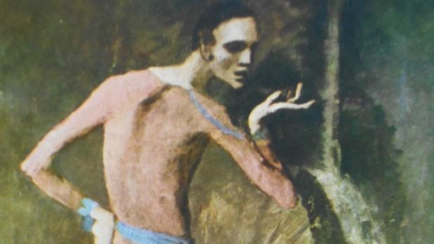 Detalle de «El actor», de Picasso
