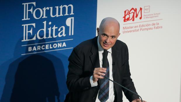 Carlo Feltrinelli, ayer en Barcelona, durante su intervención