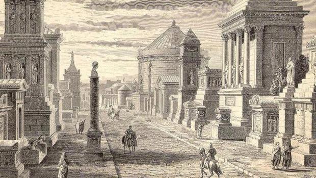 Imagen de la Vía Apia en Roma