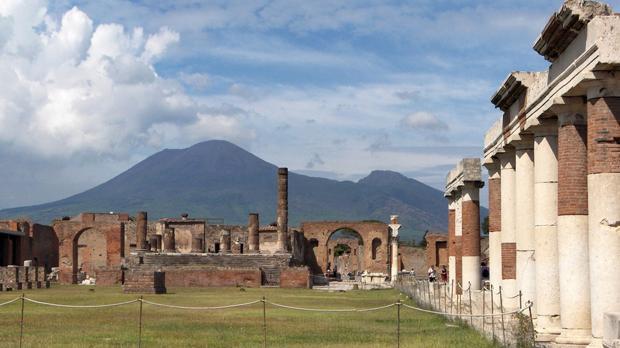 Una vista de Pompeya,