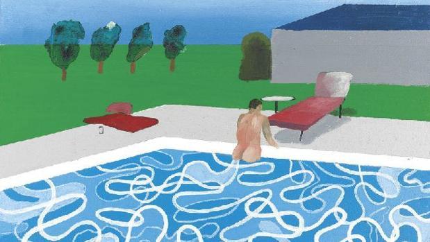 Una de las piscinas pintadas por David Hockney