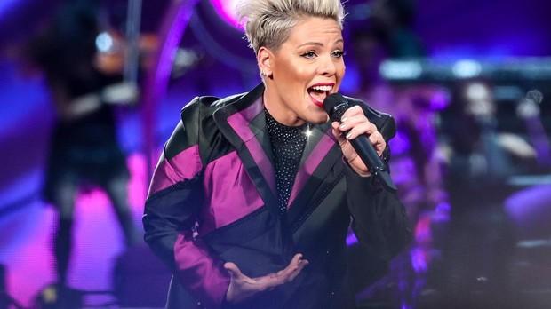 Actuación de la cantante americana Pink en Berlín el domingo 14 de julio