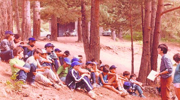 El campamento de verano la Sierra de Guadarrama a finales de los años setenta