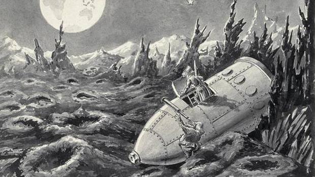 Recomposición de un fotograma de «Viaje a la Luna», de George Méliès