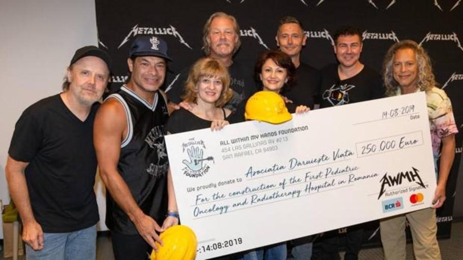 El lado solidario de los heavies: Metallica ayuda a construir el primer hospital oncológico para niños de Rumania