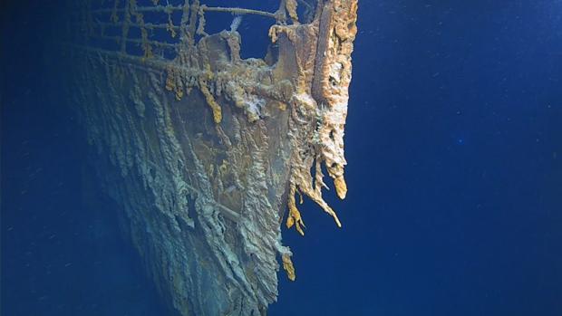 Restos del Titanic captados por una productora de televisivón