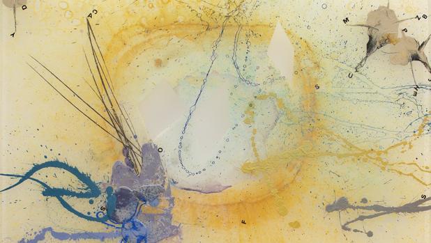 Una de las obras de «Temblor y nubes», de Carlos de Paz