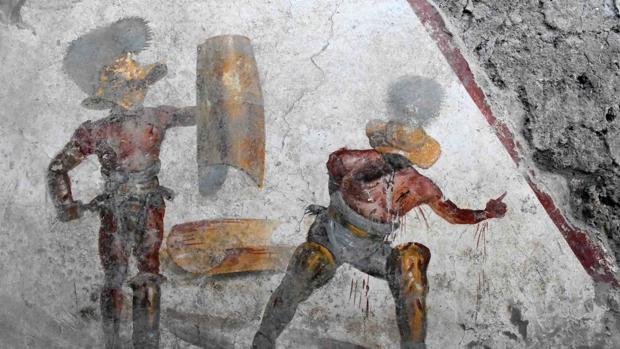 El fresco descubierto es de gran realismo