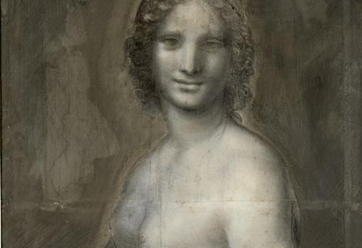 Detalle del dibujo «La Gioconda desnuda»