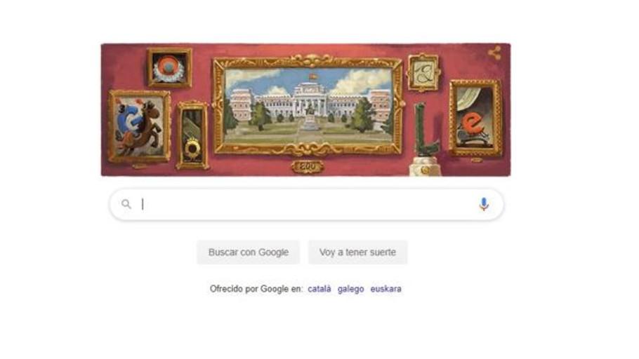 Google dedica un doodle al bicentenario de El Prado