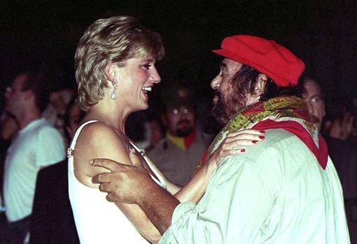 Con la Princesa de Gales, en un concierto benéfico en Módena, en 1995
