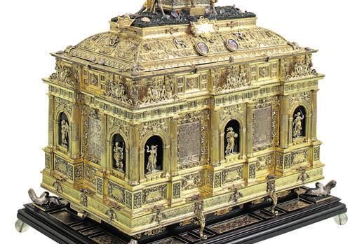Arca de San Víctor, de Wenceslao Jamnitzer, donado por la Reina Ana de Austria. Monasterio de Las Descalzas Reales, Madrid