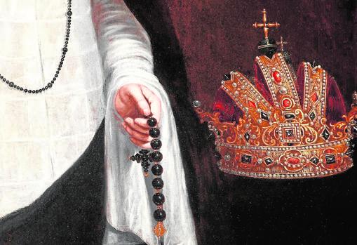 Detalle del «Retrato de la emperatriz María de Austria», de Juan Pantoja de la Cruz. Monasterio de Las Descalzas Reales