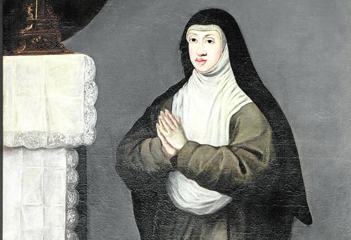 «Retrato de Sor Margarita de la Cruz», de Matías de Torres. Detalle. Monasterio de Las Descalzas Reales, Madrid