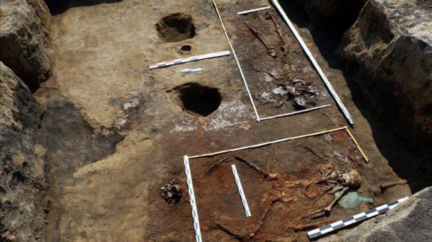 Imagen de la sepultura, hallada al suroeste de Rusia