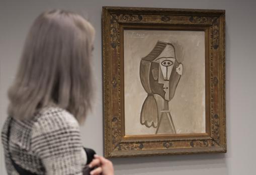 Este retrato que Picasso hizo de su última esposa, Jacqueline Roque, a la venta en el estand de Edward Tyler Nahem por 6,2 millones de euros