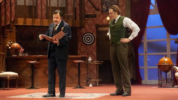 Enrique R. del Portal (Watson) y Daniel Diges (Sherlock Holmes)