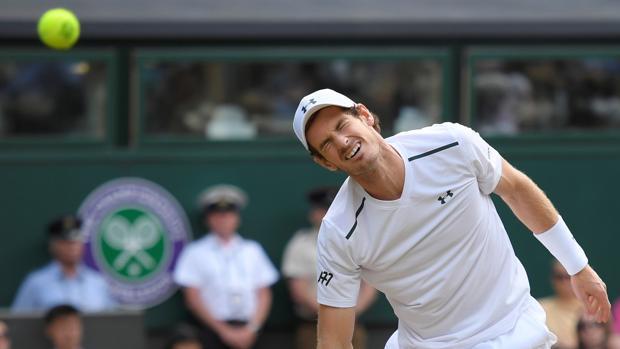 Andy Murray se lamenta en un punto contra Querrey