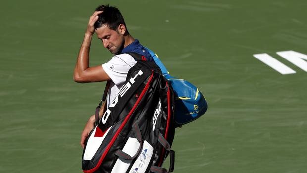 Novak Djokovic, tras su derrota en la segunda ronda de Indian Wells