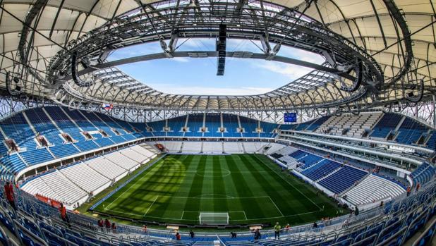 Campo del Volvogrado Arena, sede del Mundial de Rusia