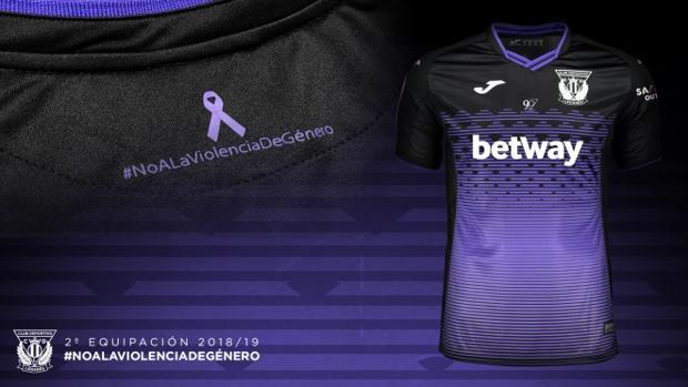 d8621bc7980 Fútbol: La camiseta que lucirá el Leganés en el Bernabéu