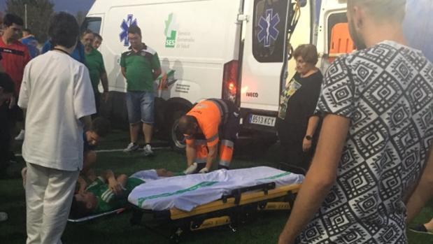 José Mari fue trasladado en ambulancia a un centro hospitalario