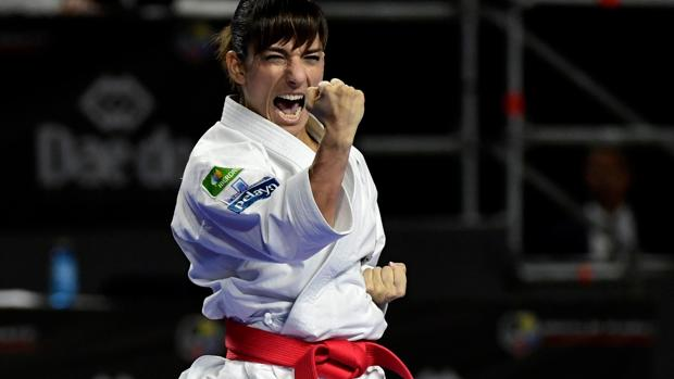 Sandra Sánchez, en los Campeonatos del Mundo en Madrid