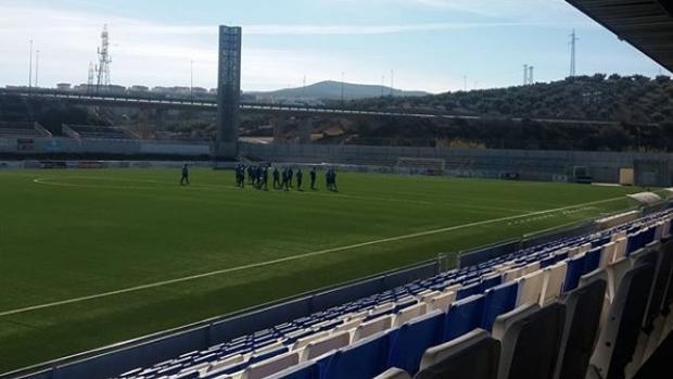 Estadio del Ciudad de Lucena, en el que se produjo la agresión a un aficionado