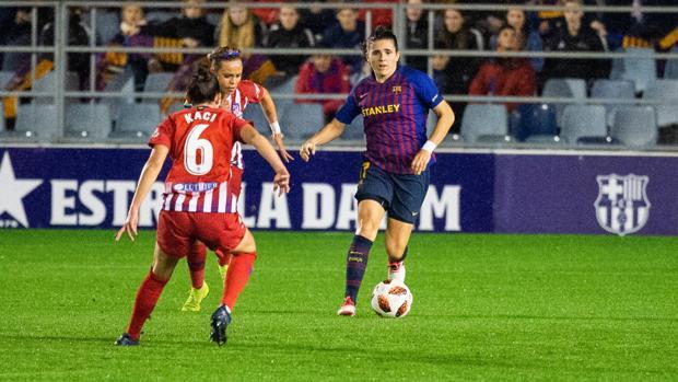 Acción del partido entre Atlético de Madrid y Barcelona del pasado mes de noviembre