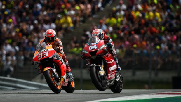 Márquez y Dovizioso, en el Gran Premio de Austria 2019