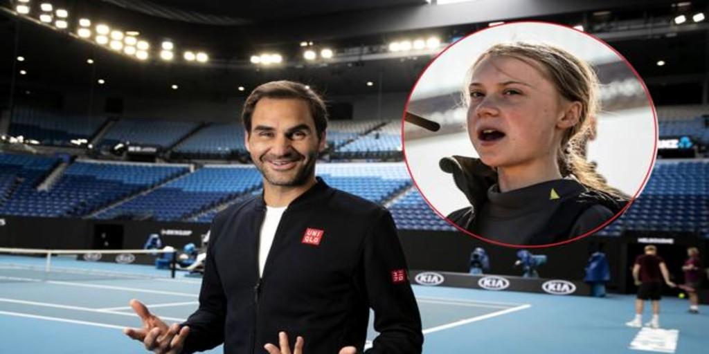 Roger Federer responde al ataque de Greta Thunberg