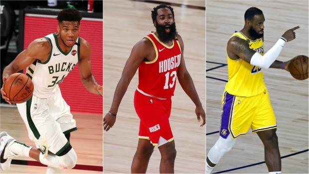 Antetokounmpo, Harden y LeBron, finalistas a MVP de la NBA