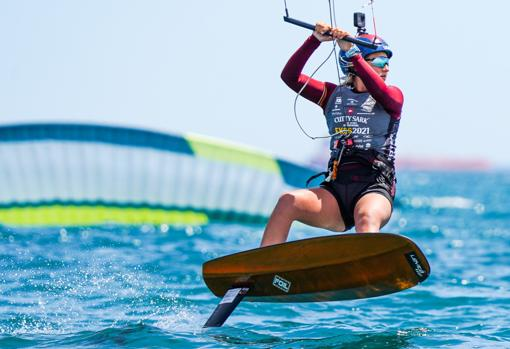 Daniela Moroz, today in the waters of Castellón
