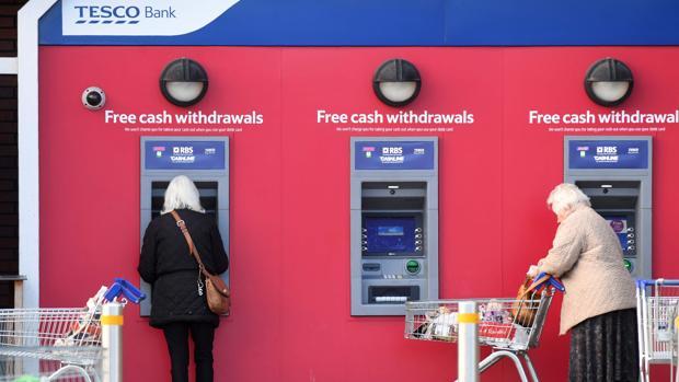 Cajeros de Tesco Bank