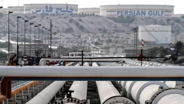 Instalaciones petrolíferas en el Golfo Pérsico