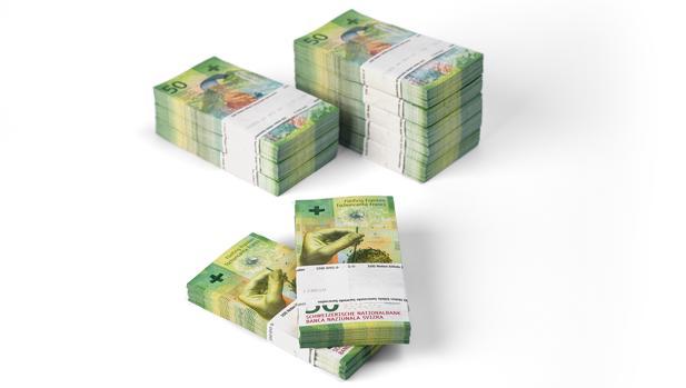 Billete de 50 francos premiado