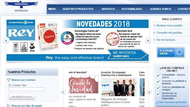 Página web de Torraspapel