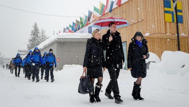 Asistentes al foro que se celebra a partir de este martes en Davos (Suiza)