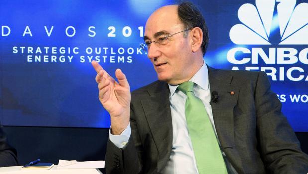 El presidente de Iberdrola, hoy, en el foro de Davos