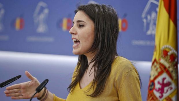 Irene Montero, de Unidos Podemos, anuncia que su partido presentará una enmienda a la totalidad a los Presupuestos