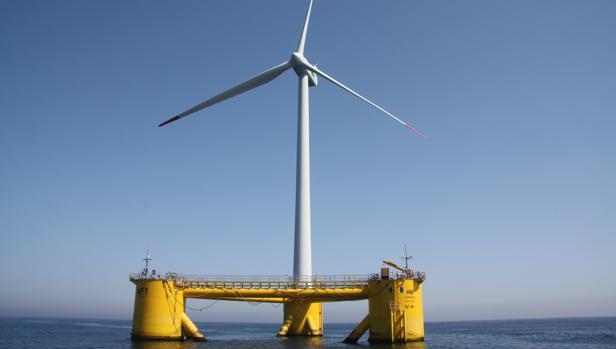 Windfloat, el parque eólico marino de última generación en la costa norte de Portugal