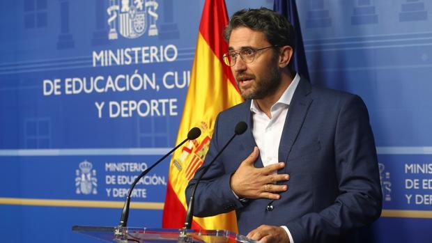 El ya exministro de Cultura y Deporte, Màxim Huerta