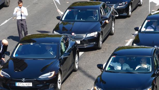 Manifestación de conductores de VTC