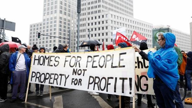 Protesta por la especulación inmobiliaria en Berlín
