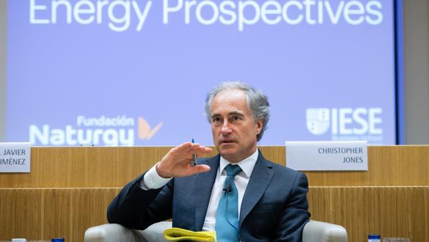 Christopher Jones, durante el acto de hoy en el IESE